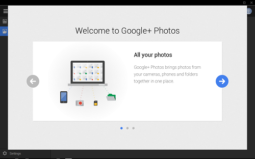 Screenshot von Google Photos