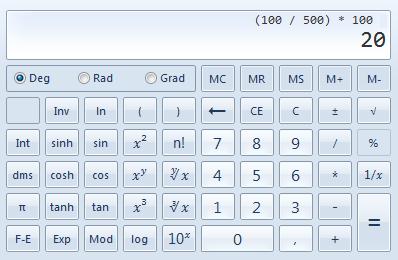 Die Formel um das Gefälle zu berechnen