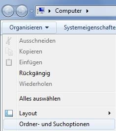So lassen sich die Endungen unter Windows 7 sichtbar machen