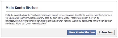 Facebook löschen ist einfach!