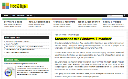 Der fertige Screenshot unter Windows