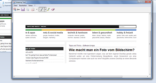 Einen Screenshot unter Windows 7 machen!