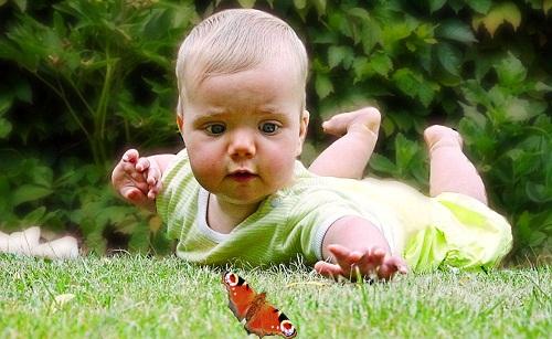 Wann ist die Augenfarbe beim Baby eindeutig? ©  Dirk Schelpe  / pixelio.de
