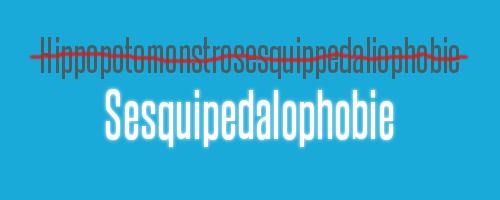 Sesquipedalophobie ist die Angst vor langen Wörtern und eben nicht Hippopotomonstrosesquippedaliophobie