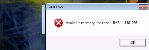 "Fehlermeldung ""Avaible memory less than 15mb"" in CS 1.6"