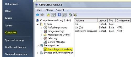 Wird der USB-Stick in der Datenträgerverwaltung erkannt?